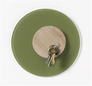 Nord Circle Glass Board 10cm Olive 70803