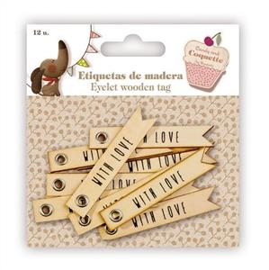 Eyelet Wooden Tags 11076103120